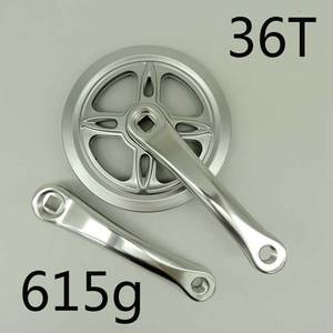 Image 4 - Aluminium 36T 46T 40T Vouwfiets Single Speed Ketting Wiel Fiets Crank