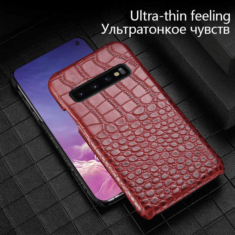 Кожаный бизнес анти-осенний Чехол для мобильного телефона samsung S10 plus S9 8 note9 8 роскошный чехол с текстурой крокодила для samsung A70 A60