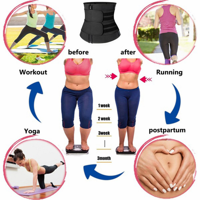 Waist Trainer Women Slimming Sheath Abdomen Shaping Pants Shaping Pants Sweat Corset Workout Adjusting Postpartum Recovery Belt 4