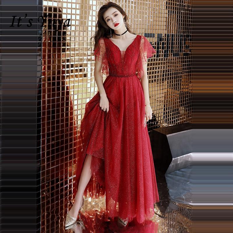 Lace V-neck Crystal Dress