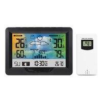 Outdoor Indoor Professionele Digitale Thermometer Hygrometer Draagbare Mini Wireless Weerstation Temperatuur Vochtigheid Gauge
