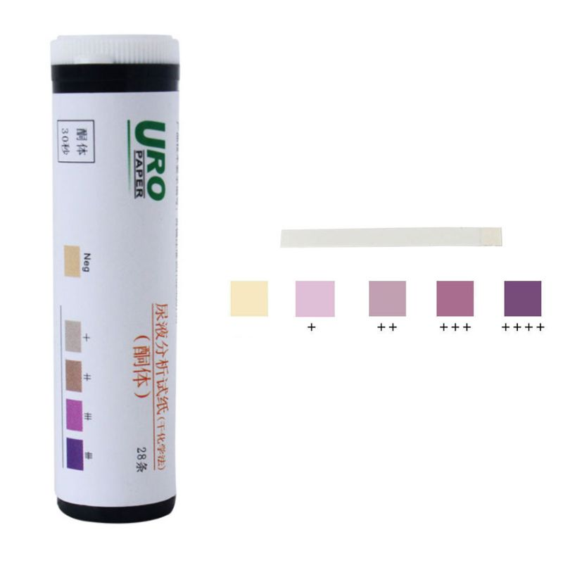 28Pcs/Bottle Professional Urine Ketone Test Paper Home Ketosis Body Fat Analysis Diet Weight Lose Test Strips PH Meter Tools