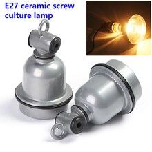 Portalámparas E27 Vintage resistente al agua tipo tornillo soporte de lámpara de cerámica lámpara de preservación de calor soporte de lámpara de aluminio fundido a presión