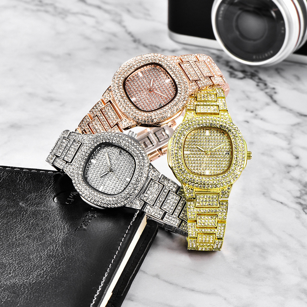 dropshipping new 2020 hip hop watches for women iced out diamonds quartz watch female clock fashion wristwatches (6)