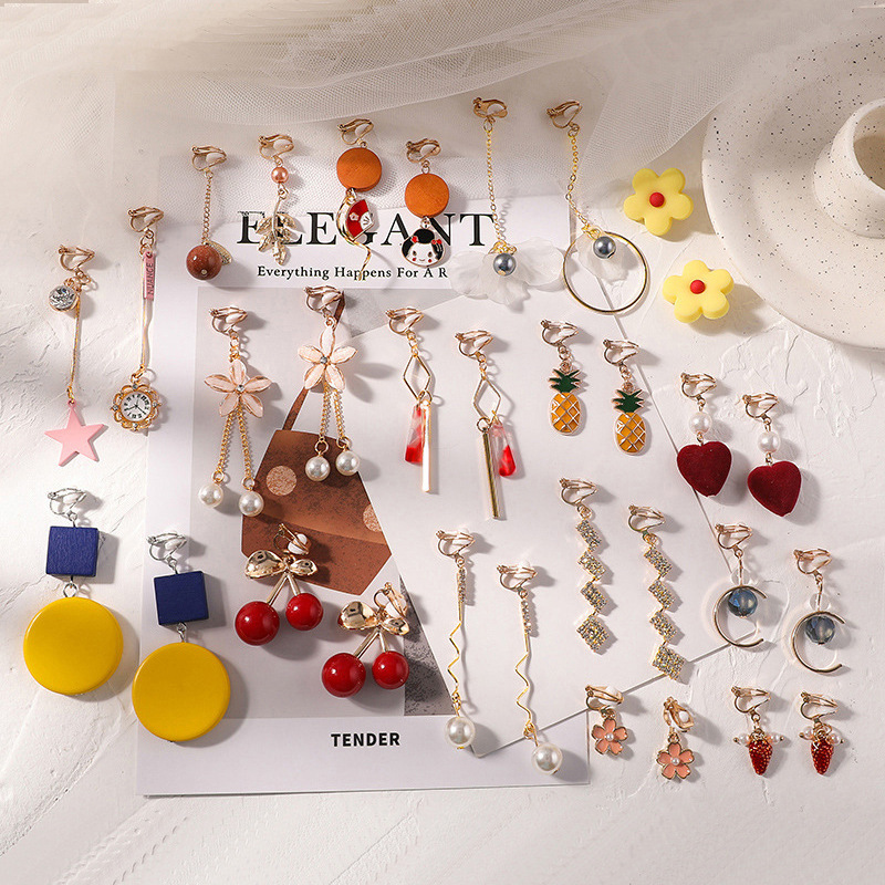 New temperament non-pierced ear clip women's earrings French style small and cold wind ear jewelry trend wholesale ear clip