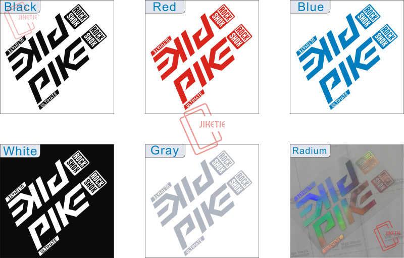 Rock Shox PIKE 2020 ULTIMATE Mountain Bike Cycling Decal Sticker Blue Gray