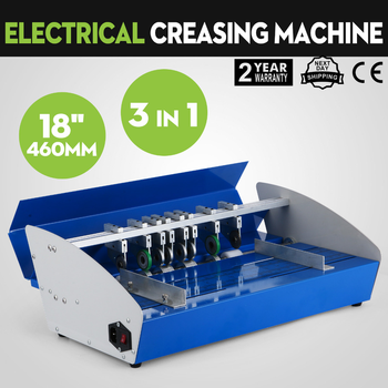460mm Electric Folding Machine A3 Paper Creaser Scorer and Perforator Cutter Perforating Creasing