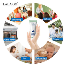 Portable Hand Sanitizer Gel 75% Alcohol Disposable Waterless Anti Bacteria Disinfectant Gel Hand Wash Soap Safe Gel Quick Dry