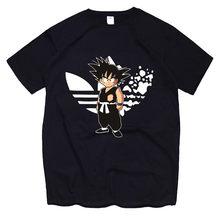 Verão mais novo anime impressão mulher homem t-shirts goku vegeta engraçado t camisas 100% algodão superior t roupas homme, navio da gota