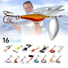 Fishing Spinner Bait 3-12g Spoon Lure Metal Baits Treble Hook Isca Artificial Fish Wobbler Feeder Carp Spinnerbait(China)