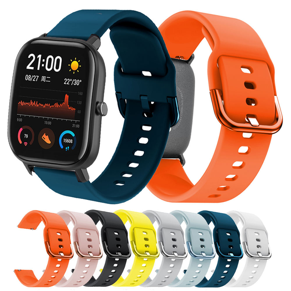 For Huami Amazfit GTS/GTR 42MM Printing Silicone Watchband For Samsung Galaxy Watch Active/active 2 40mm Bracelet Strap 20MM NEW