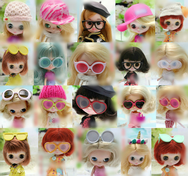 For blyth doll glasses sunglasses fashion girl boy 1/6 toy gifts 1