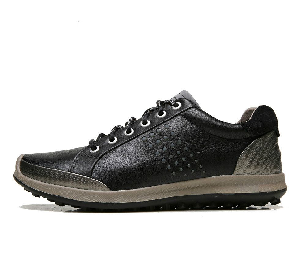ECCO Men Casual Shoes Golf Shoes Men Elastic Band Walking Men Leather Shoes 151514 39-44