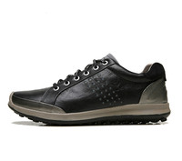 ECCO Men Casual Shoes Golf Shoes Men Elastic Band Walking Men Leather Shoes 151514 39 44