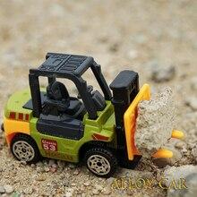 Jouet de voiture en métal moulé sous pression, modèle en alliage, véhicule militaire, roue, voiture de Police, tracteur, pelle, cadeau pour garçons, jouets pour enfants