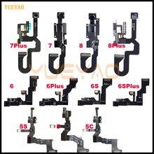 Фронтальная камера для iPhone 5 5S 6 6S 6Plus 6splus 6SP 7 7Plus 8 Plus фронтальная камера правый датчик приближения гибкий кабель
