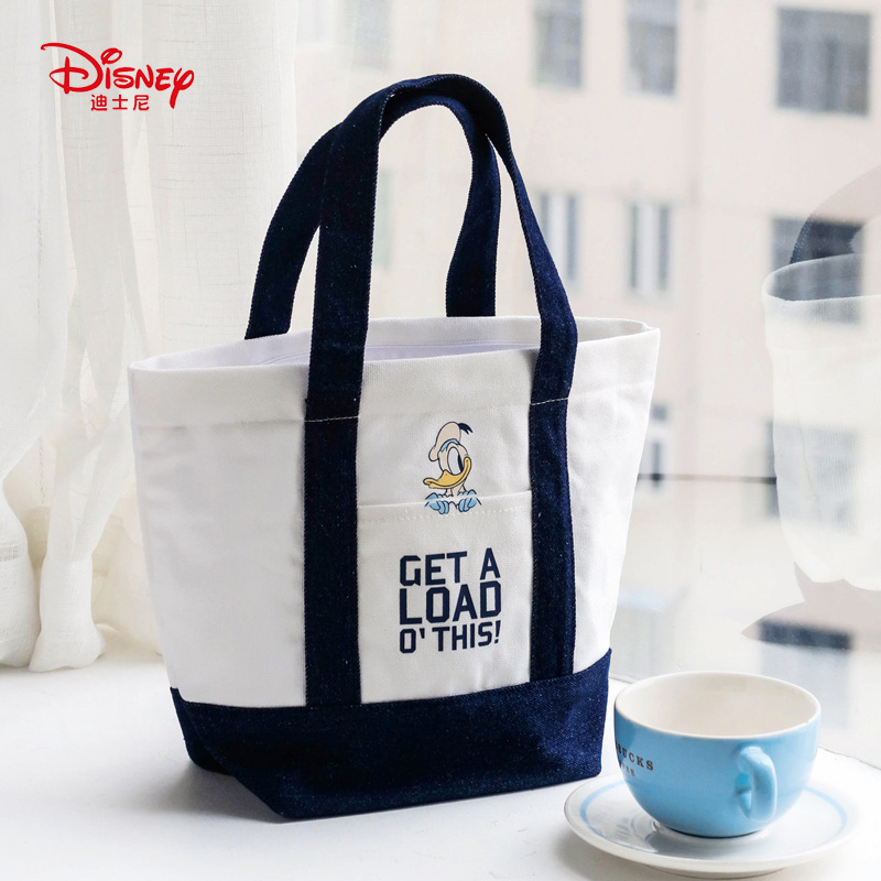 Genuine Disney Donald Duck Multi-function Simple Canvas Fashion Women Lunch  Bag Canvas Bag Fashion Mummy Bag For Hot Sale