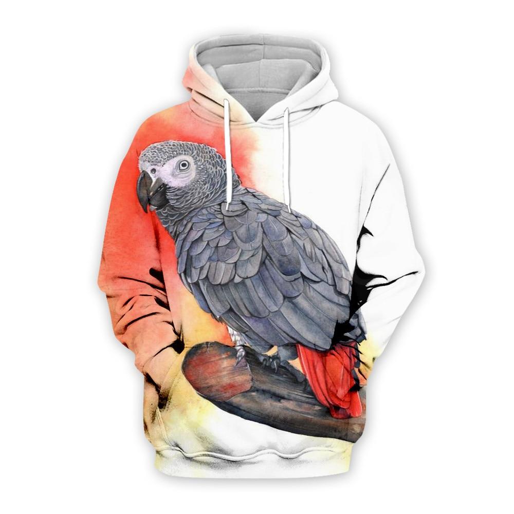 Tessffel Animal Parrot Art Colorful Unisex Tracksuit Casual New Fashion MenWomen 3D Print Sweatshirts/Hoodie/Jacket S-8