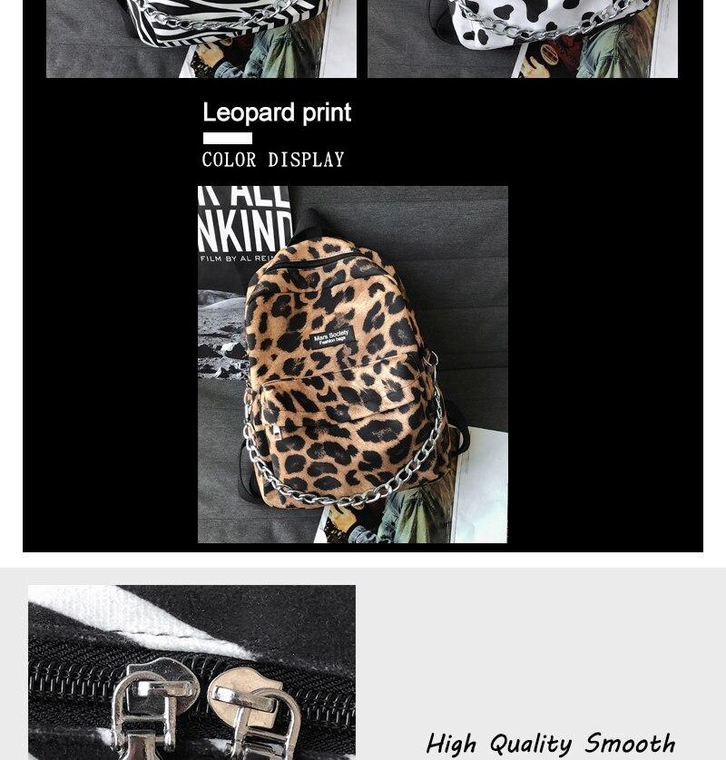 mochilas para estudantes moda corrente saco de