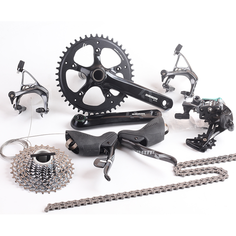 <font><b>SRAM</b></font> FORCE 1 11s 1x11s Road Bike Groupset Kit S350 Cranket 44T 11-32T FORCE 1 Brake Shifter Lever Rear Derailleur With BB image