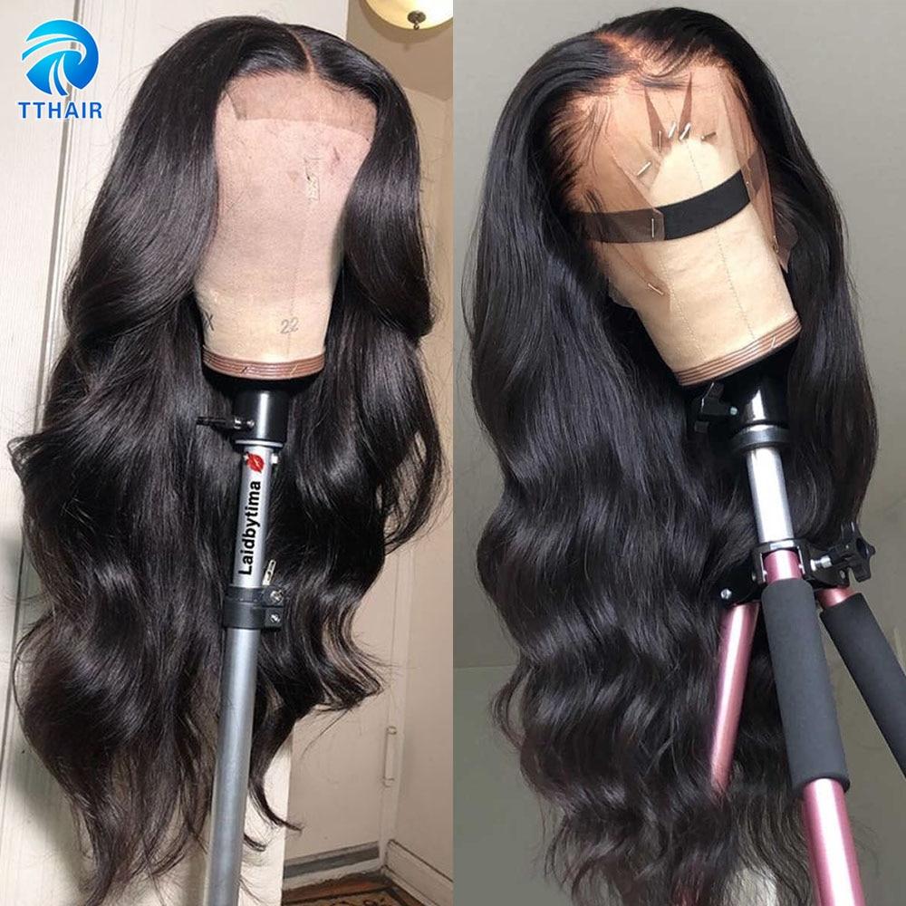Парик с объемной волной, парики из человеческих волос 13x4, парики из натуральных волос на сетке спереди, парик с застежкой на сетке 4x4, Искусст...
