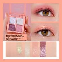 Beauty Professional Eye Shadow Palette Makeup 4 Colors Eyeshadow Pallete Glitter Shimmer and Shine Diamond Eyeshadow Powder