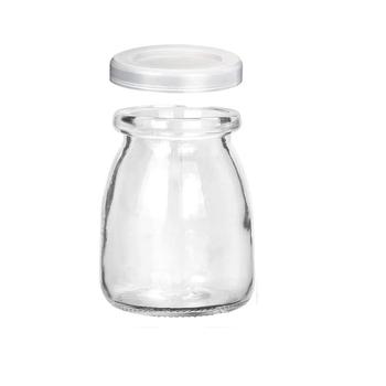 Szklane słoiki jasne słoiki jogurtowe z pokrywkami PE słoiki szklane Pudding słoiki jogurtowe idealne do miodu sprzyja ślub kąski do kąpieli tanie i dobre opinie CN (pochodzenie) Ekologiczne Szkło Butelki i słoiki przechowywania
