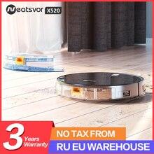 NEATSVOR X520 6000Pa Saug-Roboter Staubsauger, Sweep Nass Wischen, APP Karte Navigation, auto-Lade Boden & Teppich Reinigung Roboter