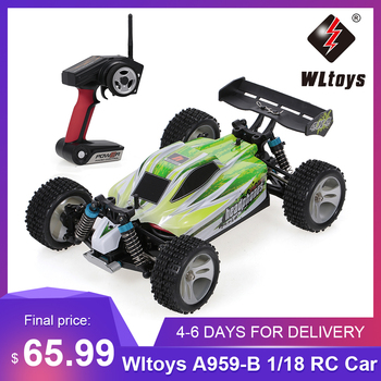 WLtoys Toys A959-A A959-B 2.4G 1/18 Scale 4WD Electric RTR Off-road Buggy 35/75KM/H RC Car Toys for Children Remote Control Gift
