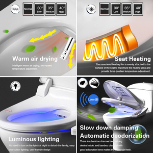 Image 3 - FOHEEL 스마트 변기 지능형 비데 히트 시트 드라이 에어 전기 비데 화장실 커버
