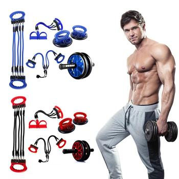 5-in-1 Abdominal Roller Wheel Kit With Push-UP Bar Multifunctional Training Equipment For Home Gym Exercise