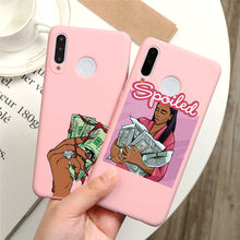 MAKE MONEY Not Friends Kash Afro Black Girl Case For Huawei P40 P30 P20 P Smart Lite E Pro 2019 2020 Honor 8X Play 9A 9S Y5P Y6P(China)