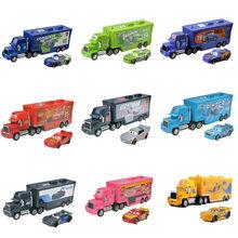 Tout Nouveau 2 Pièces/ensemble Disney Pixar Cars 3 Flash Mcqueen Mack Oncle Collection Camion 1:55 Moulé Sous Pression Modèle Voiture Jouet Pour Garçons Cadeau