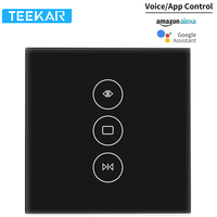Teekar WiFi Smart Curtain Switch Smart Life Fr Electric Motorized Curtain Blind Roller Shutter Work With Alexa Google Home Black