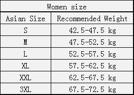 women weight and size