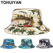 New Floral Printed Bucket Hat Women Outdoor Sun Protection Travel Hats Spring Summer Fisherman Caps Casual Gorro Bob Cap For Men