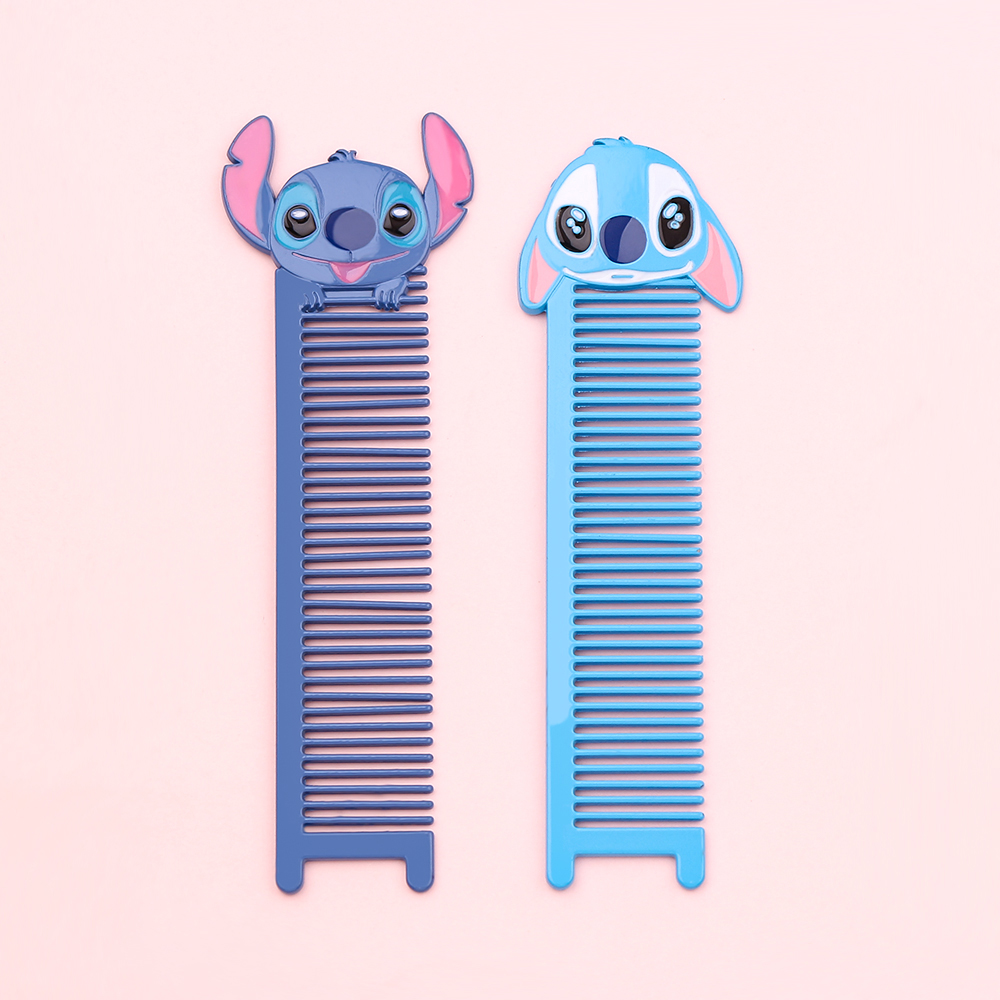 Cute Stitch Comb Mini Metal Comb Anti-static Hair Brush Reject Tangle Detangle Hairbrush Comb Portable Hair Beauty Styling Tools