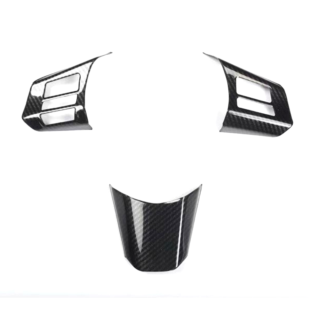 3Pcs/set Car Steering Wheel Switch Decoration Frame Cover Stickers For Subaru Outback 2010 2011 2012 2013 2014 Car Styling