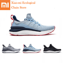 Xiaomi Mijia รองเท้าผ้าใบ4ผู้ชายกีฬากลางแจ้งรองเท้า Uni Molding 3D Fishbone ล็อคระบบ Breathable ถักด้านบนรองเท้าวิ่ง