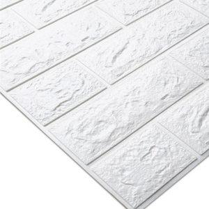 Image 2 - Adesivos de decoração de tijolo para casa, faça você mesmo, adesivos de tijolo para parede da sala de estar, quarto, espuma, arte de casa para crianças papel de parede 3d