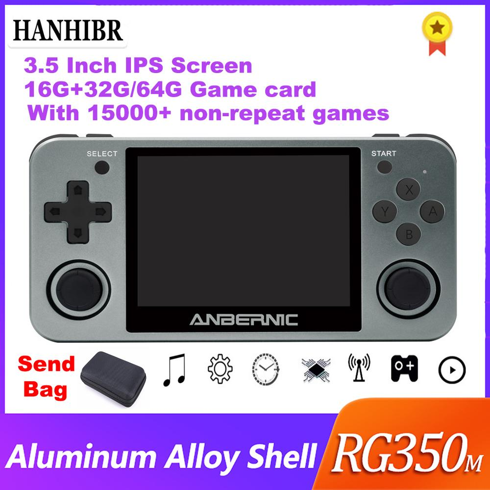ANBERNIC Retro game RG350 Video games Upgrade game console ps1 game 64bit opendingux 3.5 inch 15000+ games RG350m Child gift(China)