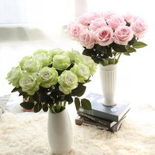Simulation flower flannelette rose wedding supplies simulation plant wedding false flowers home decoration crafts(China)