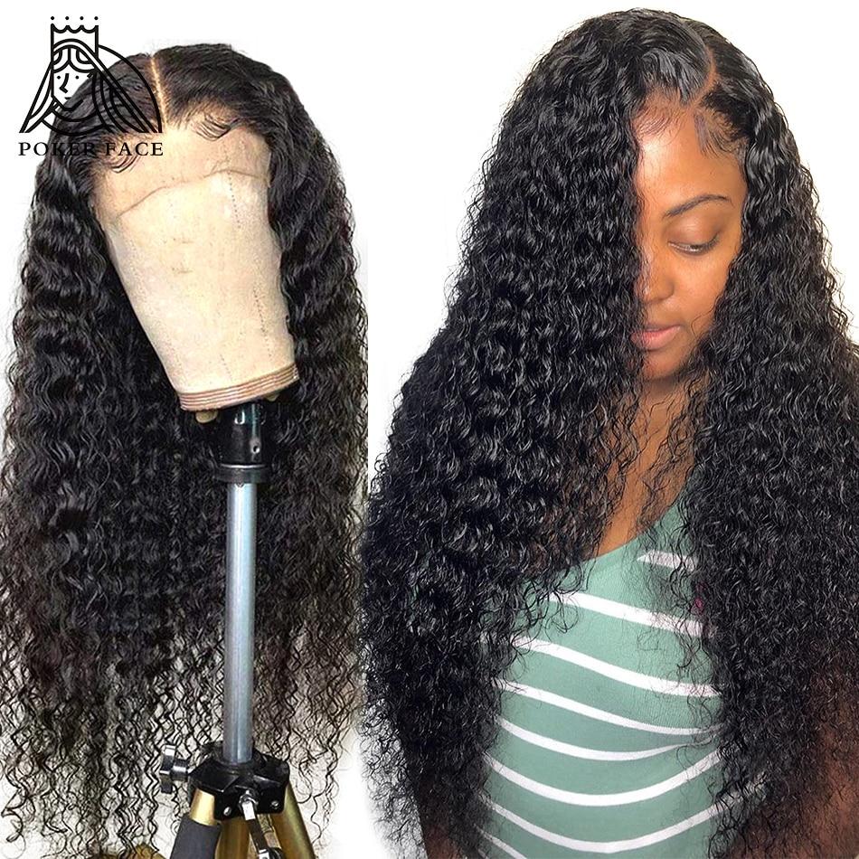 Парики из человеческих волос с кудрявыми кружевами спереди, 28, 30 дюймов, 13x4, предварительно выщипанные бразильские волнистые волосы с глубо...