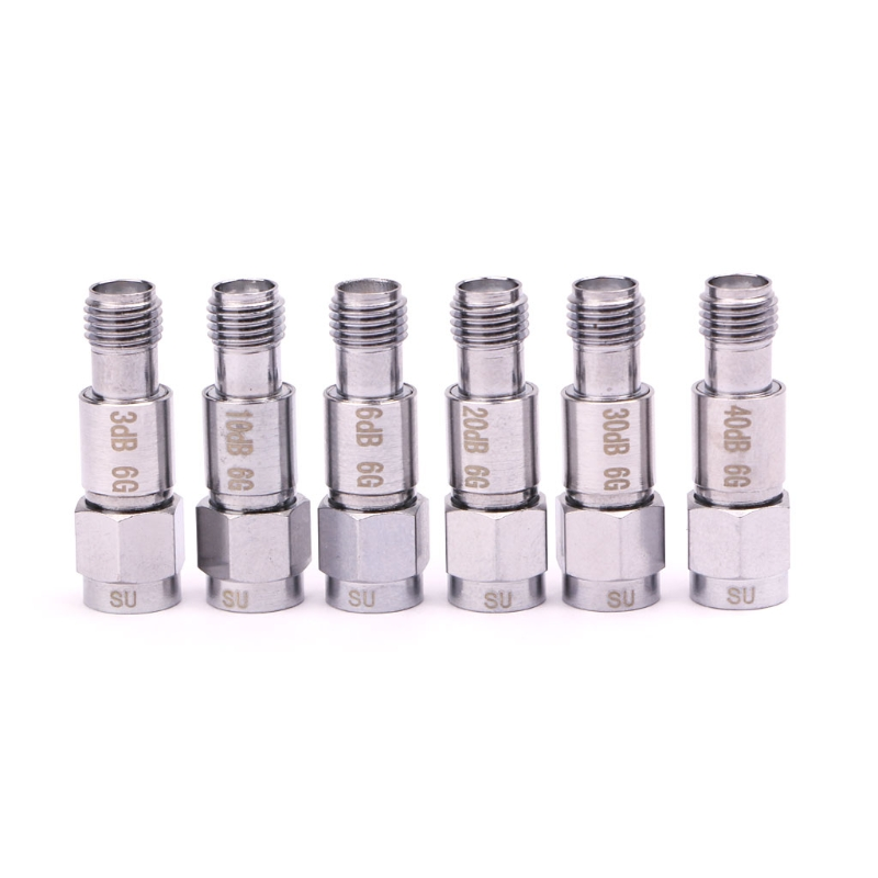 2W SMA DC-6GHz Coaxial Fixed Attenuators Frequency 6GHz SMA Fixed Connectors Whosale&Dropship