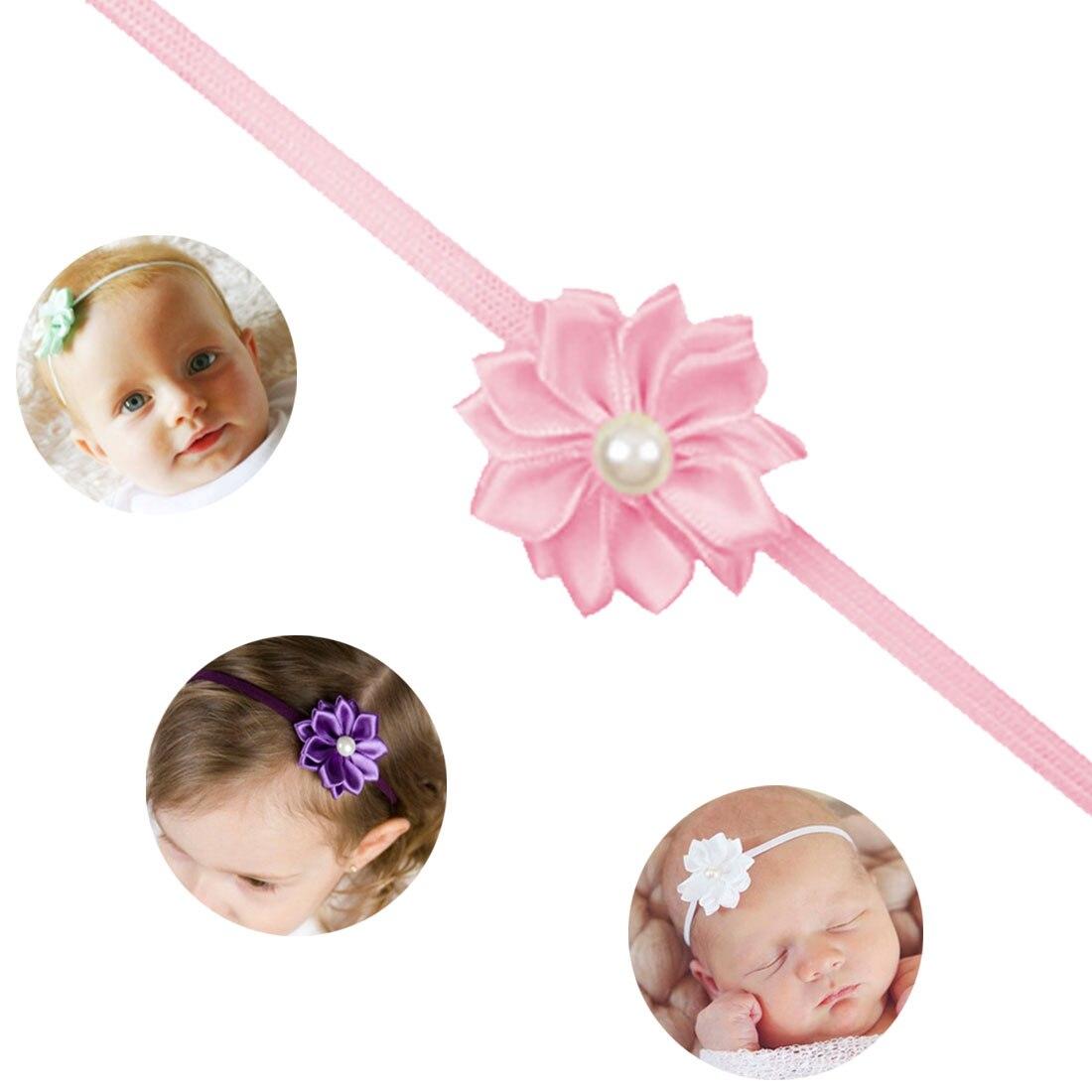 Venda quente bonito do bebê meninas headbands pano strass flor acessórios de cabelo para meninas faixa de cabelo frete grátis bunchems cabeça banda