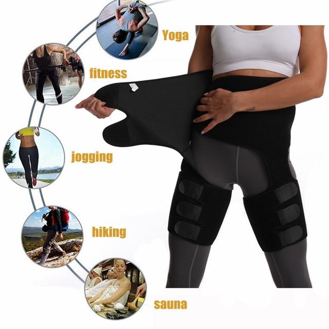 Sweat Belt Slimming Pants Yoga Belly Belt Fitness Running Leggings Sweating Sweat Fever Shaping Lose Weight Pants Leg Sheath 3