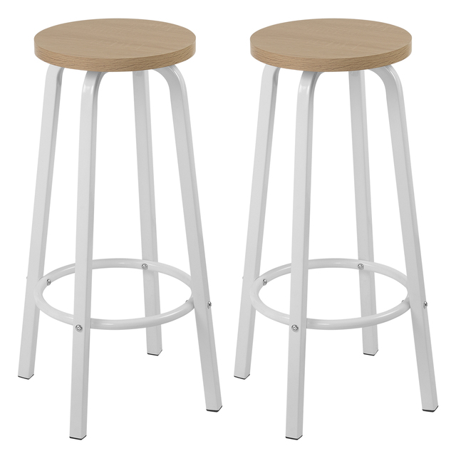 2PCS MDF Seat Metal Legs Bar Chair Breakfast Kitchen Barstools Counter Bar Stools Set High Stools Nordic Pub Accessories Leisure