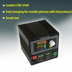 DIY коробка оболочки DC Buck Boost конвертер CC CV модуль питания регулируемый лабораторный источник питания переменная