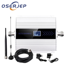 OSERJEP Kit 4G LTE Mobile Signal Booster Repeater 1800Mhz Cellphone Cellular GSM 1800 Cell Phone LCD Display + Sucker Antenna