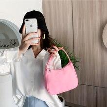 Rétro sac à bandoulière pour femmes à la mode Vintage Nylon sac à main femme petit subaxillaire sacs décontracté rétro Mini sac à bandoulière Bella 180